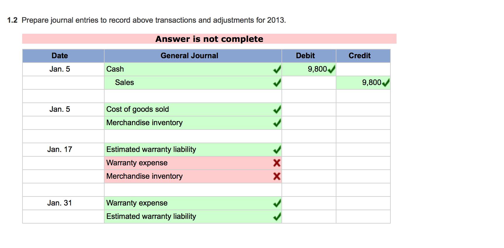 Solved: Problem 11-4A Warranty Expense And Liability Estim ...