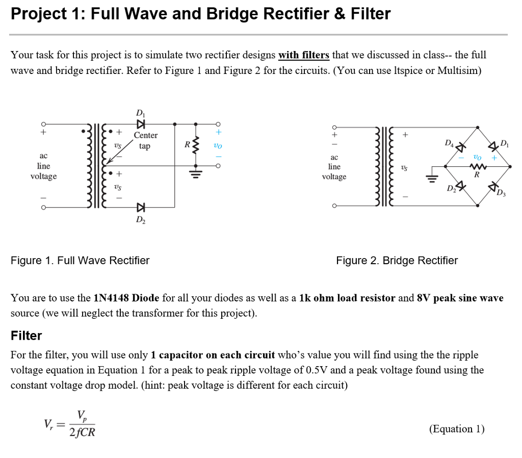 All About Figure 47peak And Average Values For A Fullwave Rectifier The Full Wave Averaging Filter