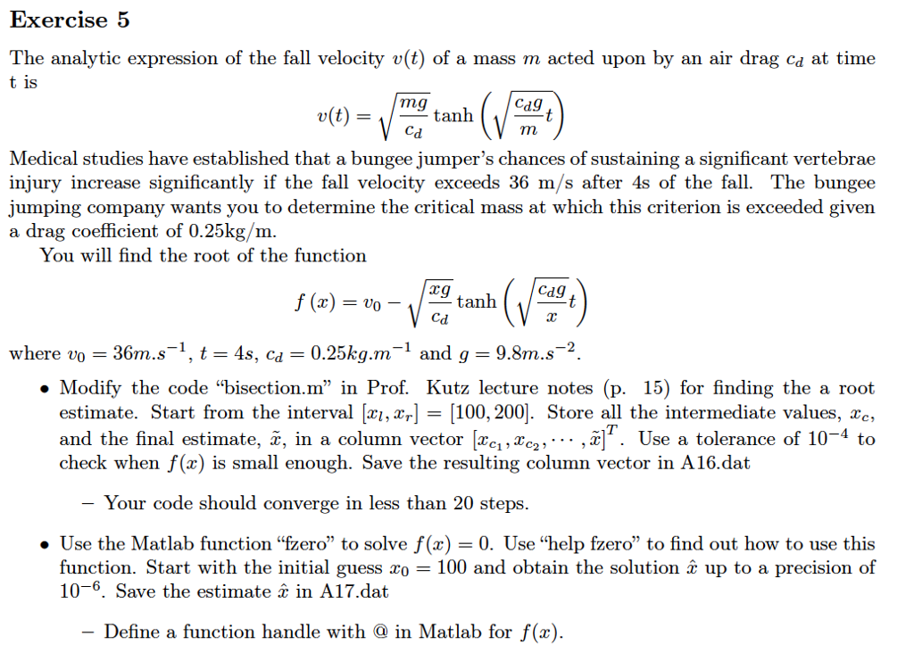 The Analytic Expression Of The Fall Velocity V(t