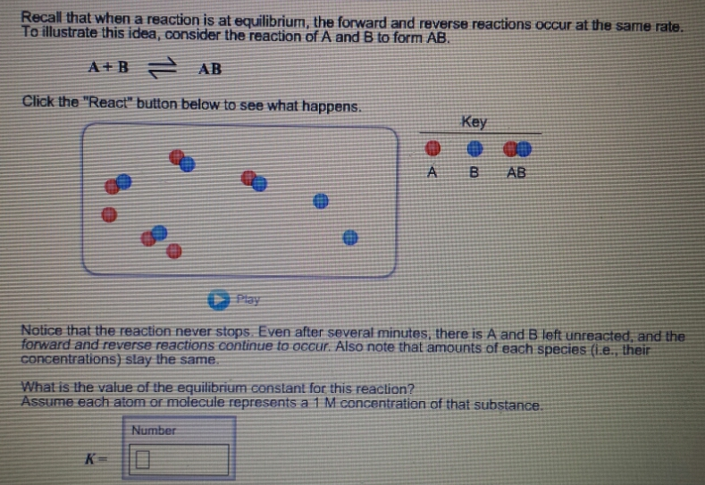 Solved Recall That When A Reaction Is At Equilibrium The