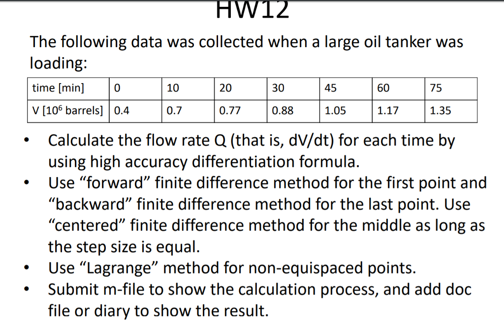 Solved: The Following Data Was Collected When A Large Oil