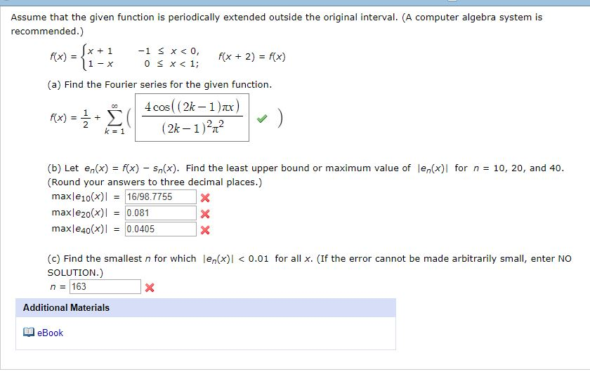Advanced math archive november 23 2017 chegg assume that the given function is periodically extended outside the original interval a computer fandeluxe Gallery