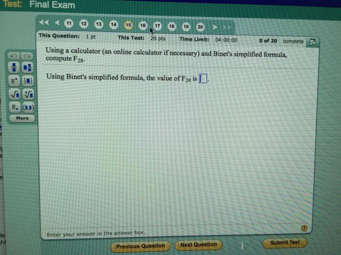 Solved: Using A Calculator (an Online Calculator If Necess ...