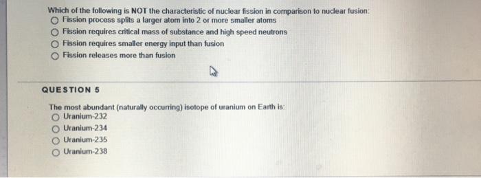 which is a characteristic of nuclear fusion