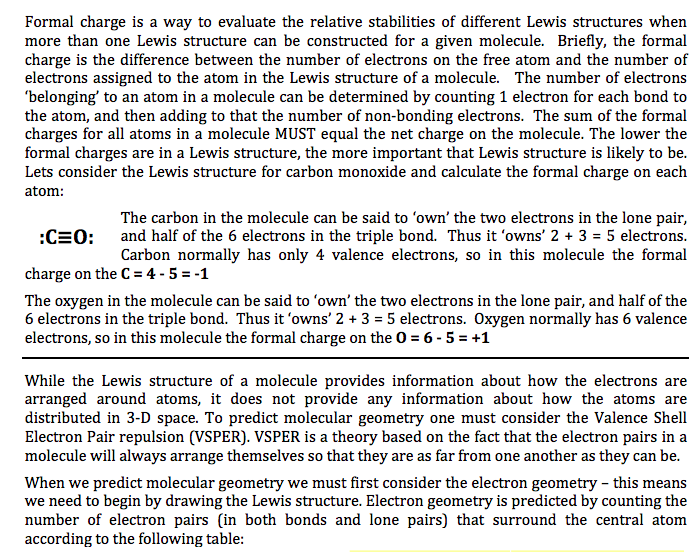 Solved: Formal Charge Is A Way To Evaluate The Relative St ...