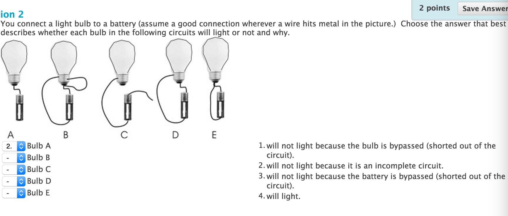 Solved You Connect A Light Bulb To Battery Assume Go Circuit With And Image For Good Connection Wherever