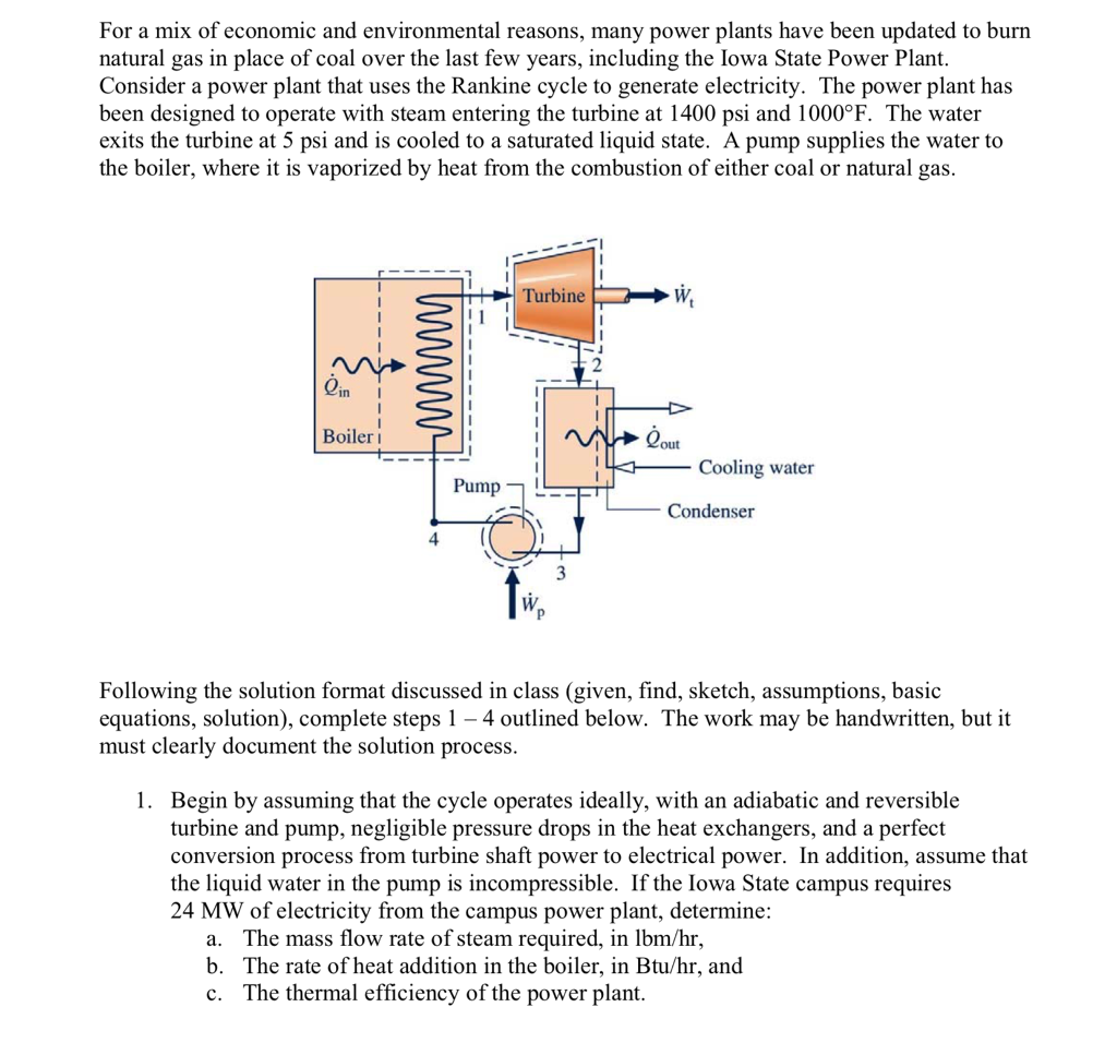 Solved For A Mix Of Economic And Environmental Reasons M Natural Gas Power Plant Diagram Many Plants Have Been Updated To