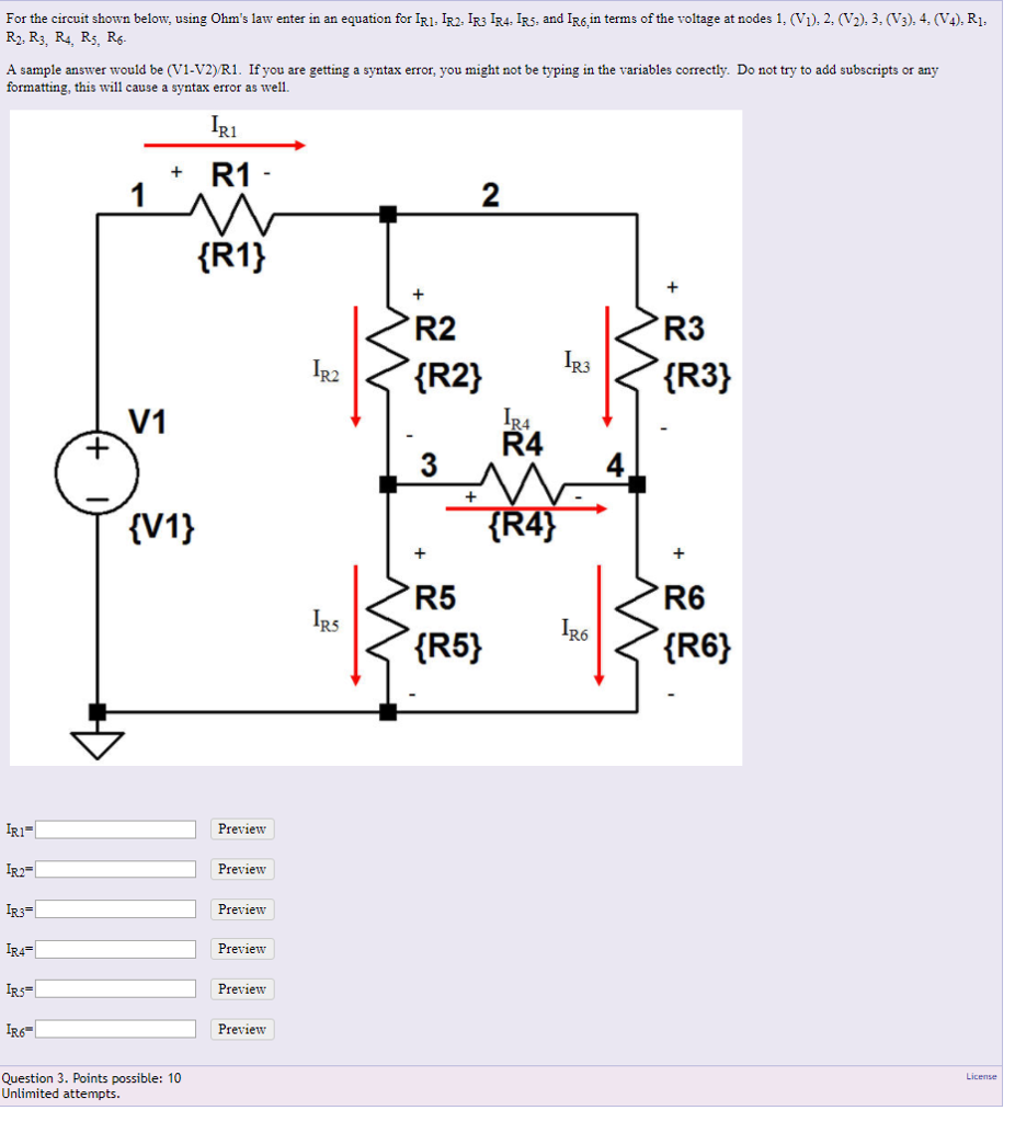 Electrical engineering archive march 06 2018 chegg for the circuit shown below using ohms law enter in an equation for ir1 falaconquin