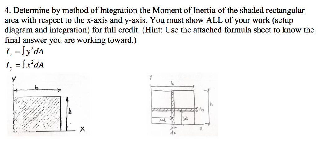 Solved 4 Determine By Method Of Integration The Moment O