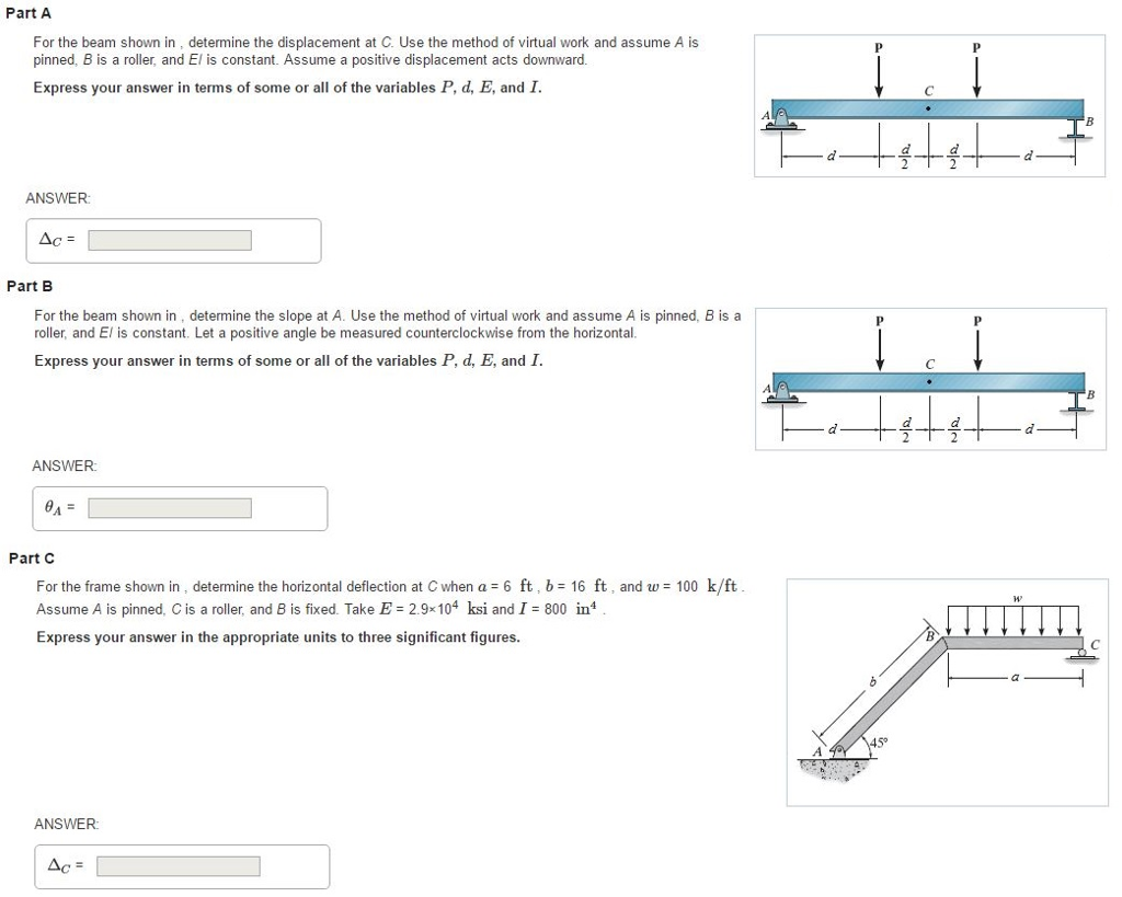 Civil engineering archive march 08 2017 chegg part a for the beam shown in determine the displacement at c use the method nvjuhfo Choice Image