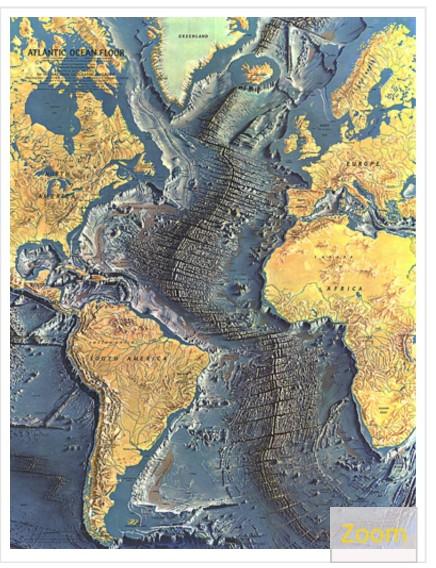 Topographic Map Of Ocean Floor.Solved Part 1 Topographic Features Of The Ocean Floor Th