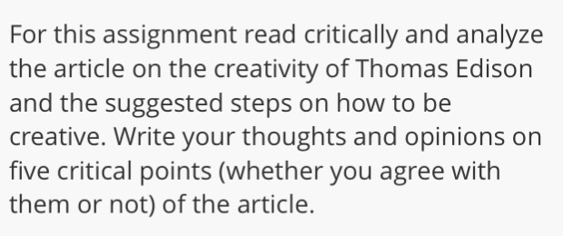 The Creative Thinking Habits Of Thomas Edison By M