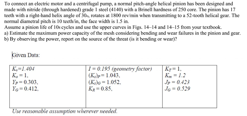 Solved: To Connect An Electric Motor And A Centrifugal Pum ...