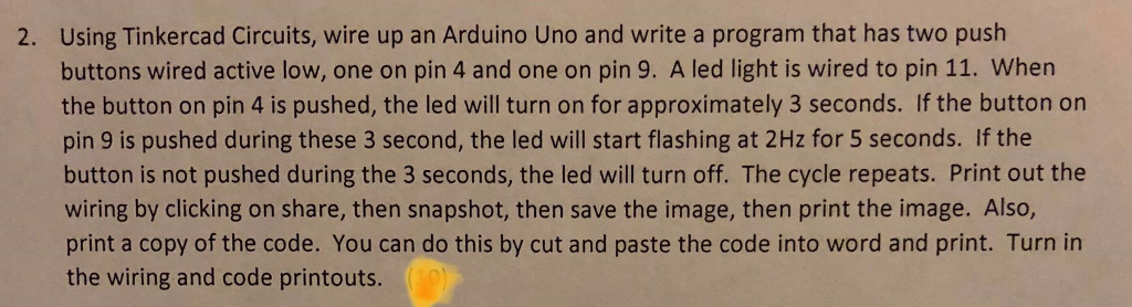 Using Tinkercad Circuits, Wire Up An Arduino Uno A    | Chegg com
