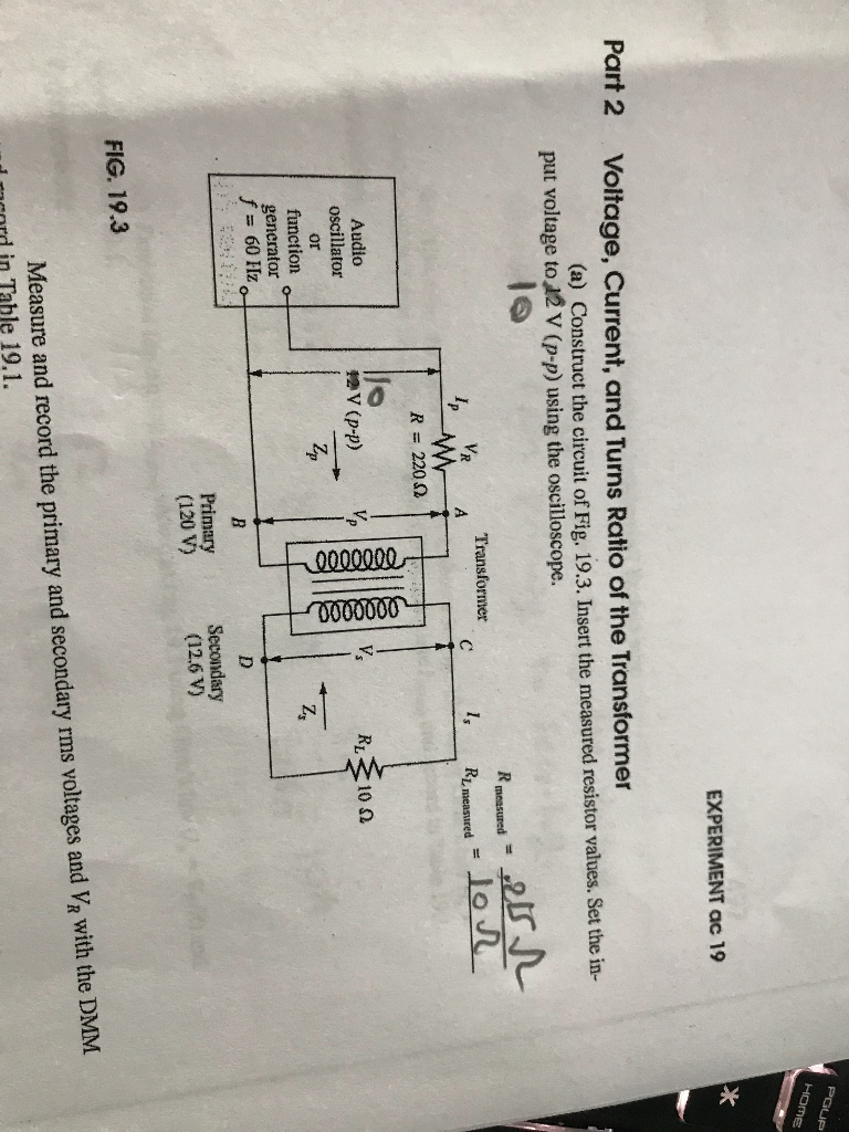 difference cv resume%0A EXPERIMENT ac    Part   Voltage  Current  and Turns Ratio of the  Transformer
