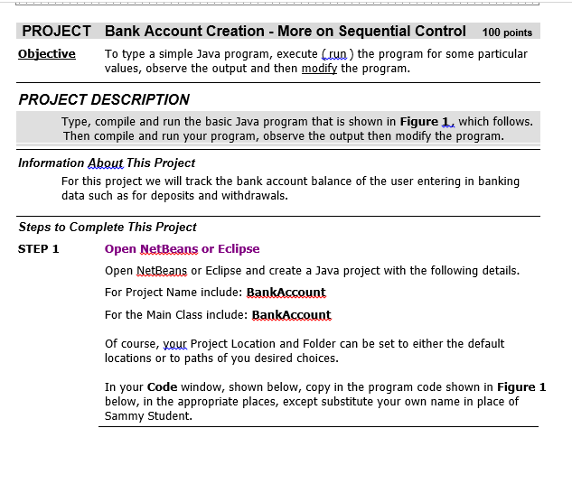 Solved: PROJECT Bank Account Creation - More On Sequential