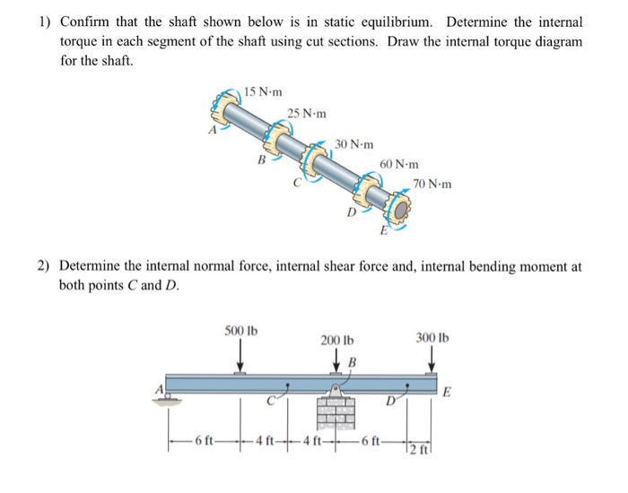 Solved  Confirm That The Shaft Shown Below Is In Static Eq
