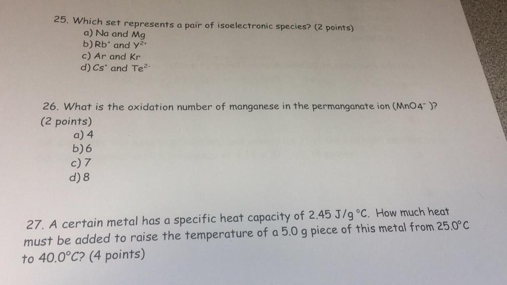 ions isoelectroniques de kr