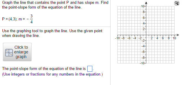 Solved Graph The Line That Contains The Point P And Has S