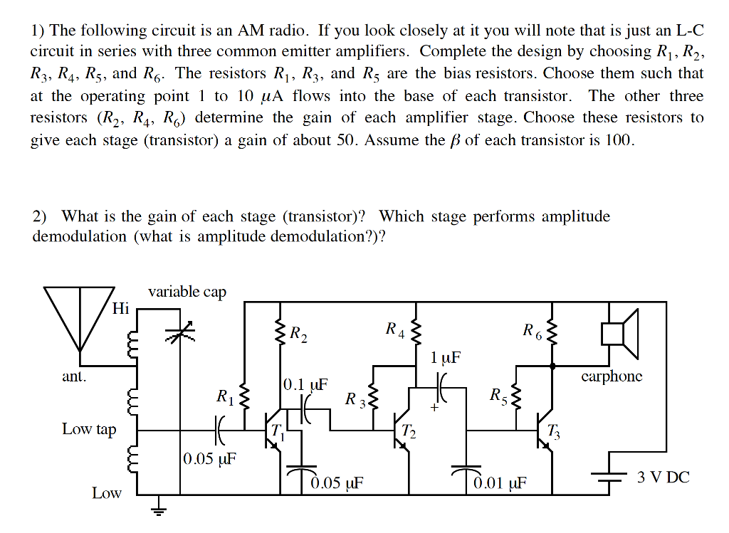 Solved the following circuit is an am radio if you look 1 the following circuit is an am radio if you look closely at it publicscrutiny Gallery