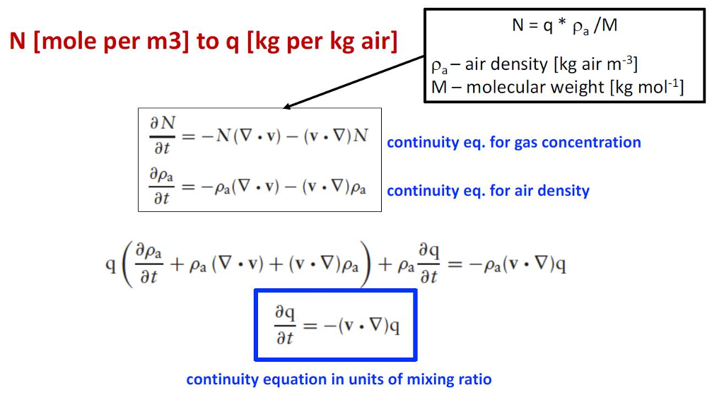 Solved: Derive The Continuity Equation For A Mixing Ratio