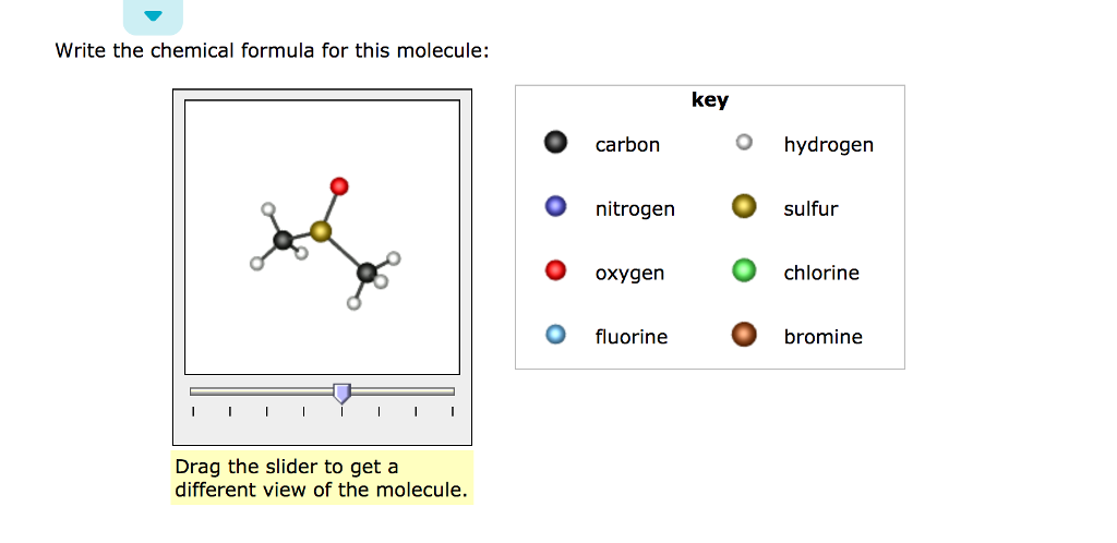 Solved Write The Chemical Formula For This Molecule Carb