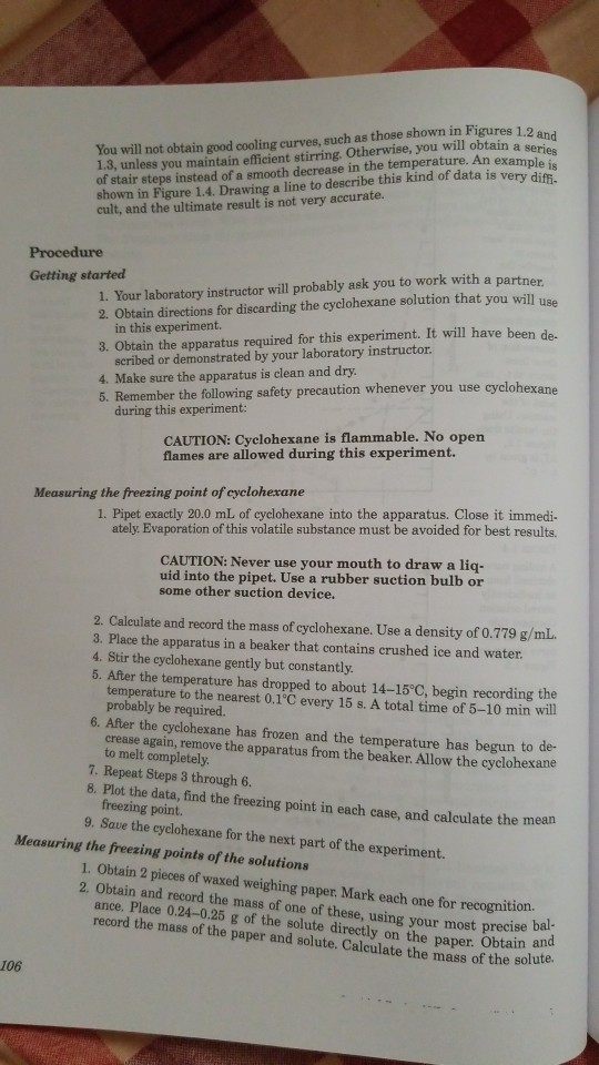 Solved: Molar Mass From Freezing-Point Depressiorn 11. A I ...