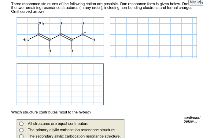 Solved: Three Resonance Structures Of The Following Cation ... on long form, birthday form, dramatic form, master form, written form, dinner form, short form, urban form, graduation form,