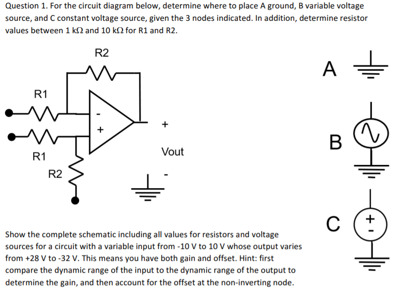 Miraculous Solved Question 1 For The Circuit Diagram Below Determi Wiring Database Wedabyuccorg