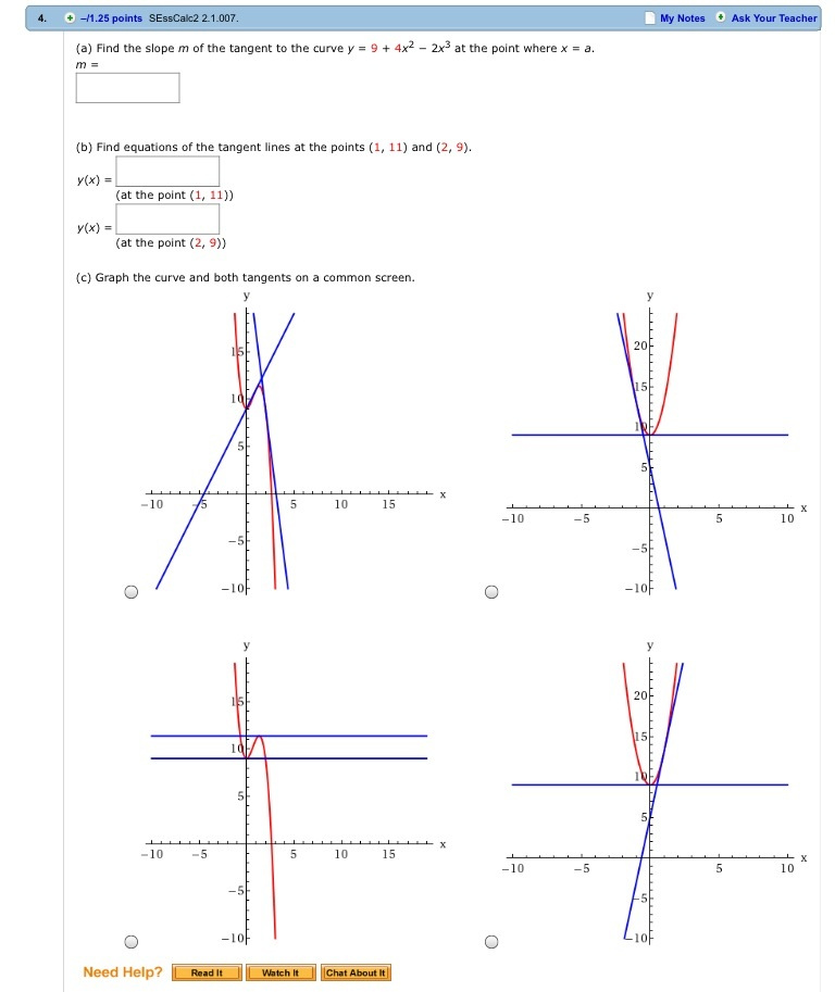 Solved Consider The Parabola Y 8x X2 Find The Slope