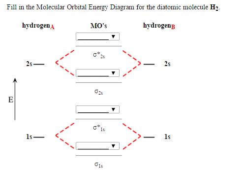 Solved Fill In The Molecular Orbital Energy Diagram For T