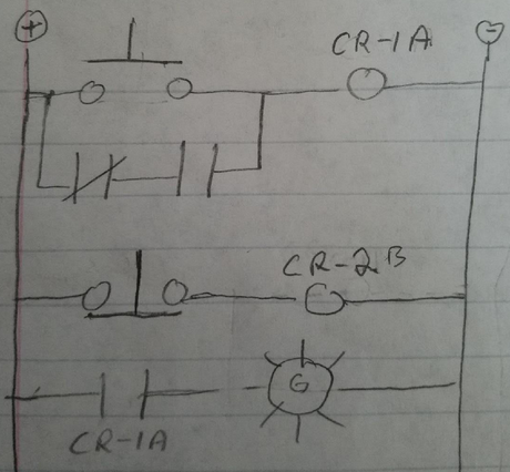 which of my ladder logic circuits is correct ive upladed two ladder logic  circuit designs attempted wiriring it with on relay but it did not work