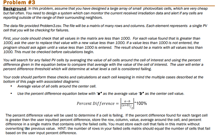 The Value Of Failing >> Solved Problem 3 Background In This Problem Assume That