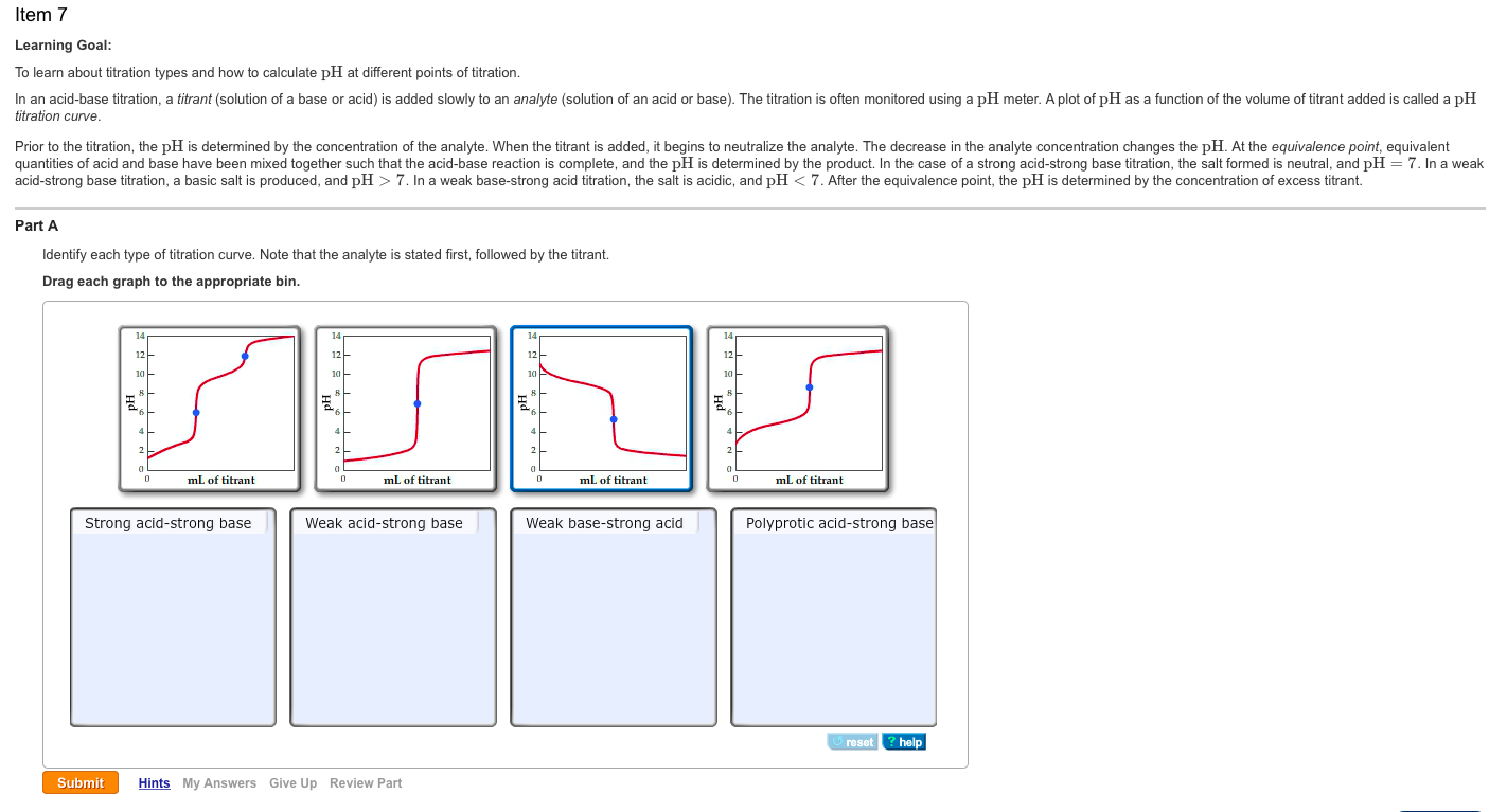 Image For Item 7 Learning Goal: To Learn About Titration Types And How To  Calculate