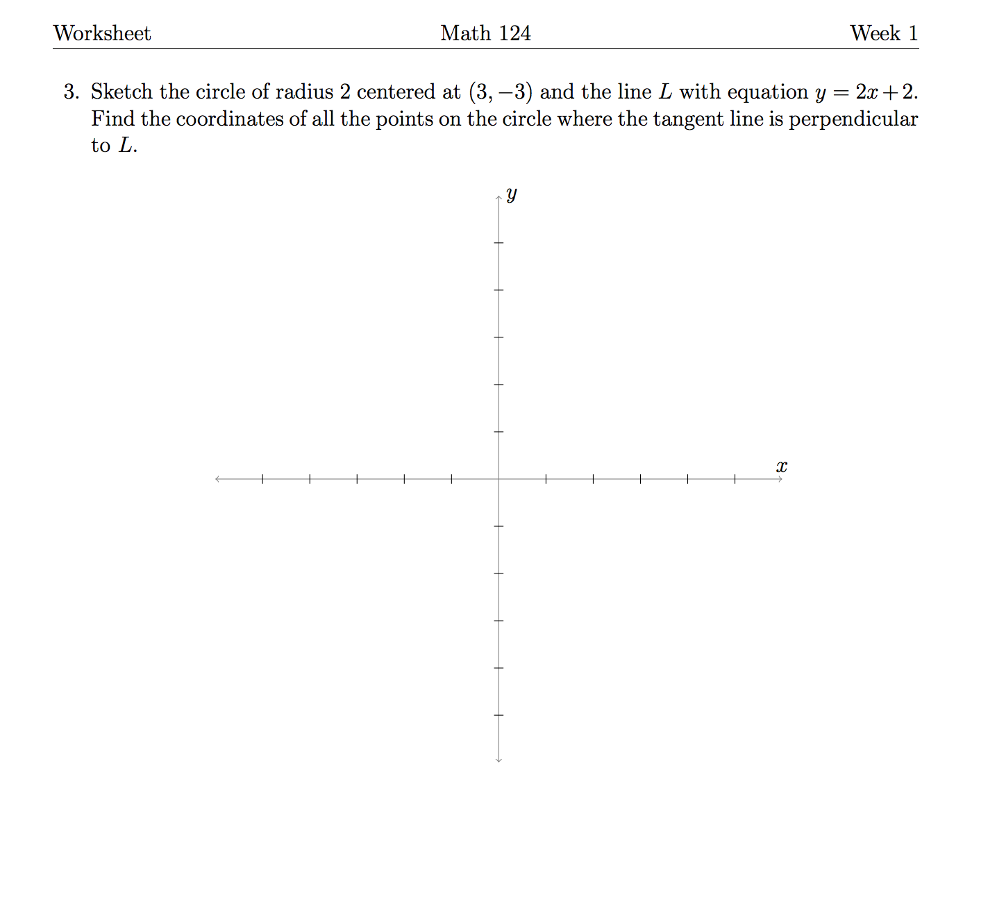 Solved: Sketch The Circle Of Radius 2 Centered At (3, -3