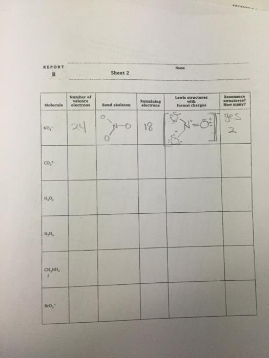 Need Help Complete This VSEPR Worksheet. | Chegg.com