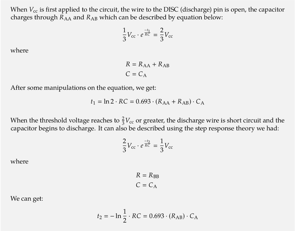 Solved Use Example 861 To Derive The Time Constant Equa 555 Monostable Examples