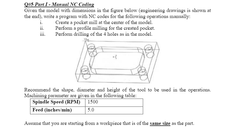 Mechanical engineering archive june 13 2017 chegg 5 part i manual nc coding given the model with dimensions in the figure fandeluxe Images