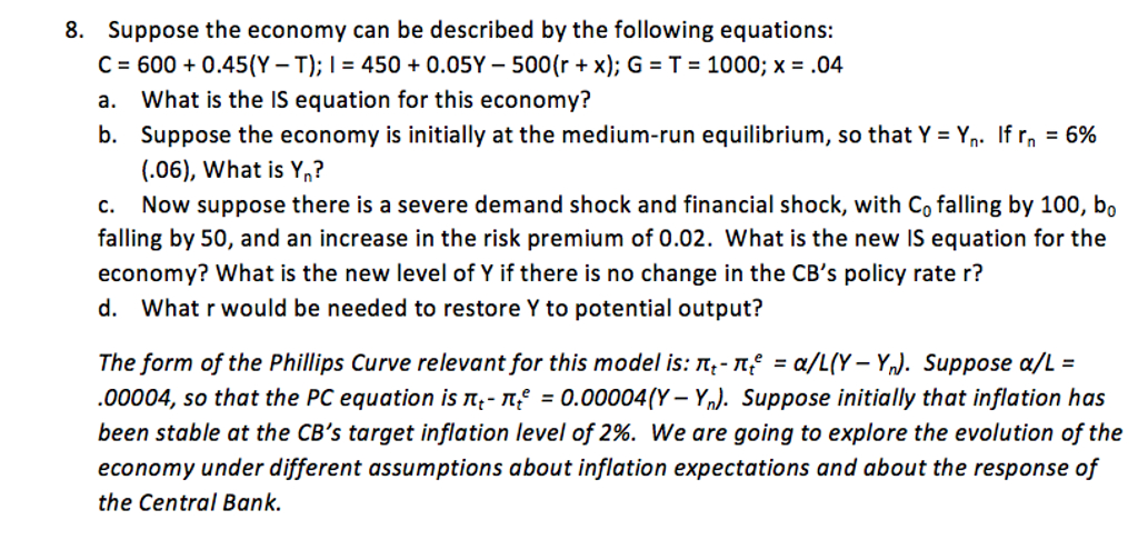 suppose the demand and supply for milk are described by the following equations