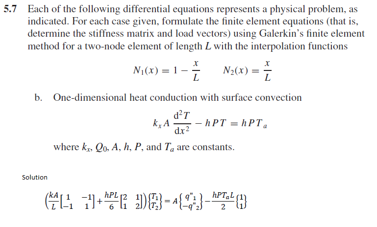 Solved: 5 7 Each Of The Following Differential Equations R