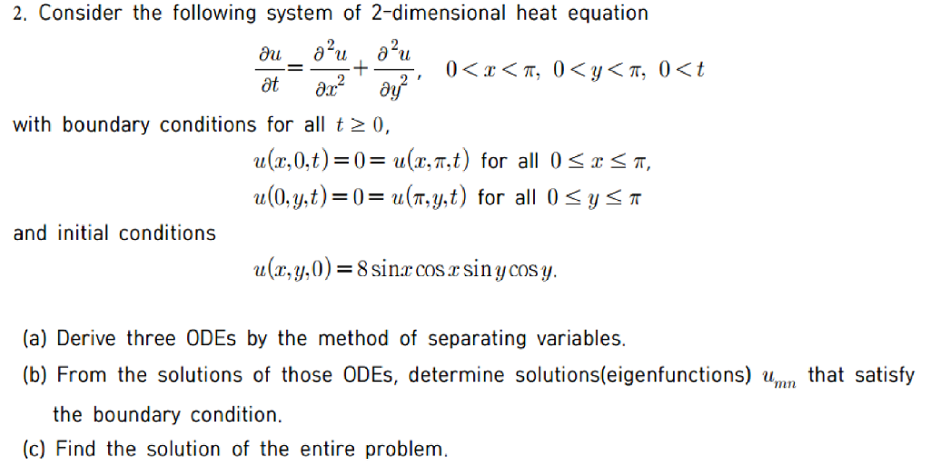 Solved: Consider The Following System Of 2-dimensional Hea