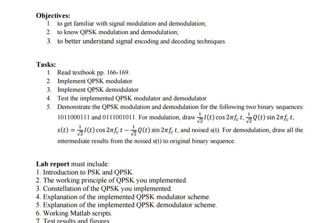 Objectives To Get Familiar With Signal Modulation