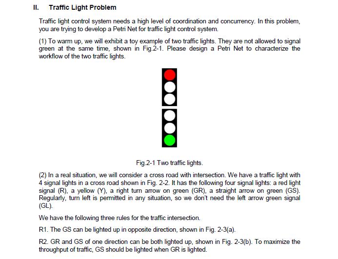 Solved Ll Traffic Light Problem Traffic Light Control Sy