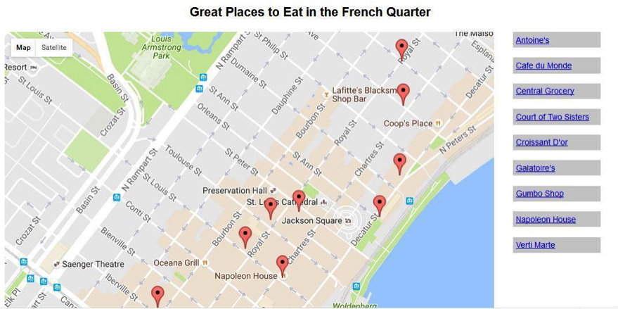 Create a google map program using the google map j chegg great places to eat in the french quarter ine maisoantoines louis map satellite armstrong park esort gumiabroncs Gallery