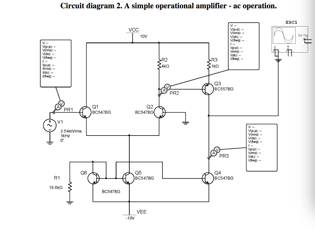 Circuit Diagram 1 Is A Very Simplified Version Of Amplifier 2 Simple Operational Ac Operation Xsc1 Vp P