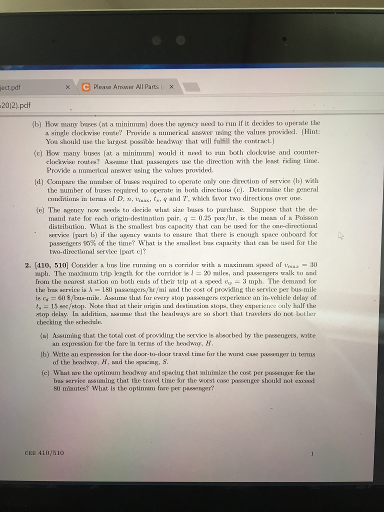 Solved: C Please Answer All Parts(x Ect 20(2).pdf (b) How ...