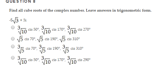 how to solve complex numbers and roots