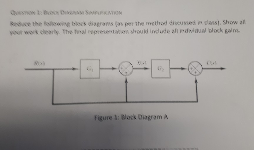 Solved reduce the following block diagrams as per the me question reduce the following block diagrams as per the method discussed in class show all your werk cl ccuart Images