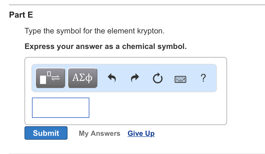 Solved Part B Type The Symbol For The Element Iodine Exp