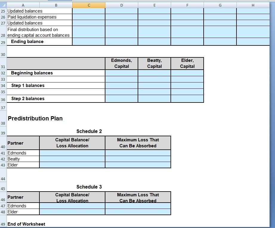 Solved: Assessment 4: Partnerships 2 Exercise 2 Worksheet ...